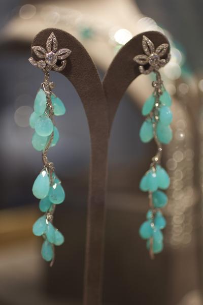 Pioneer Gems: Peruvian Opal and Diamond Earrings