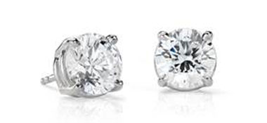 Diamond Stud Earrings in Platinum (4 ct. tw.) at Blue Nile