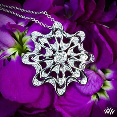 "Platinum ""Embrace"" Diamond Pendant at Whiteflash"