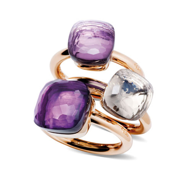 Pomellato Nudo Rings with Amethyst