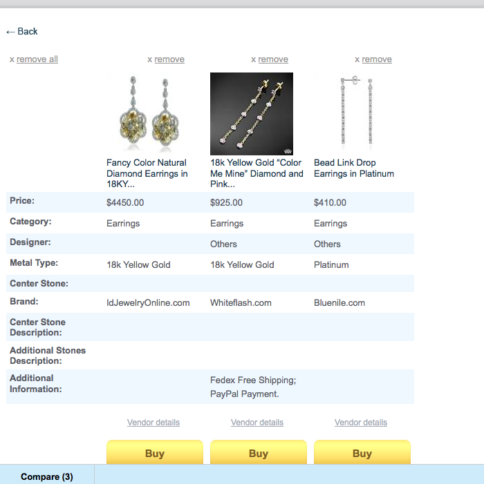 Pricescope's New Jewelry Search