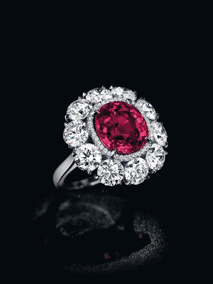 6.25-carat Burmese ruby and diamond ring • Image: Christie's