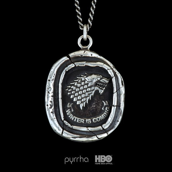 Game of Thrones House Stark Talisman Necklace from Pyrrha & HBO