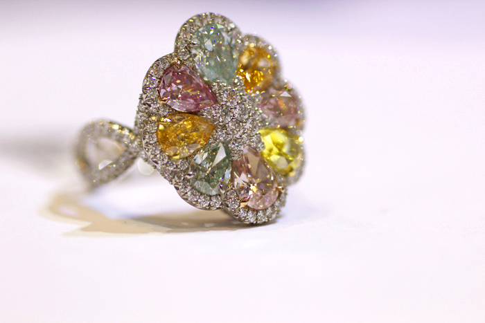 Rahaminov Diamonds Vibrant Bloom diamond ring • Image Erika Winters