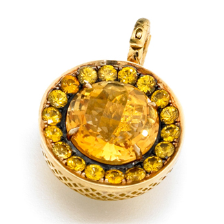 Ray Griffiths pendant with citrine and yellow sapphires