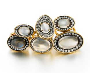 Moonstone rings by Ray Griffiths
