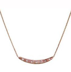 Diamond bar necklace by Rebecca Lankford