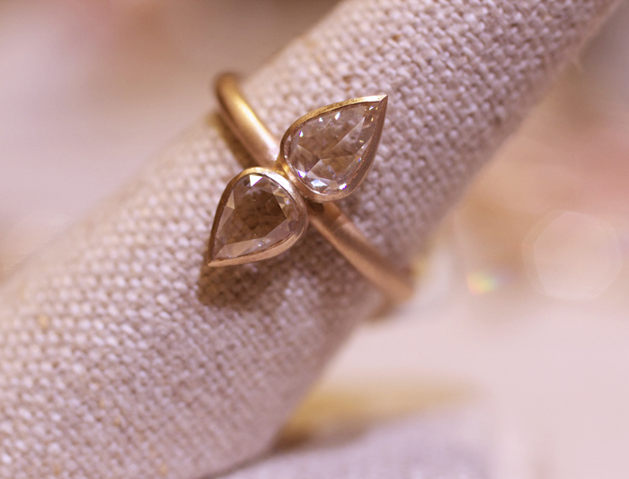 Rose-cut diamond ring designed by Rebecca Overmann • Image Erika Winters