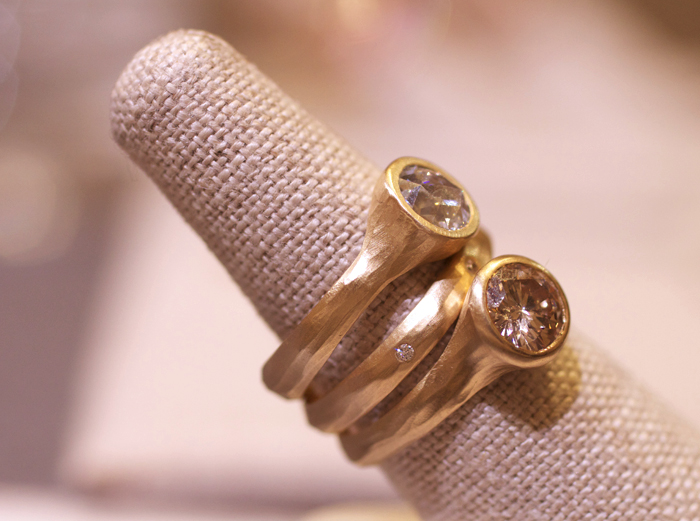 Diamond engagement rings designed by Rebecca Overmann • Image Erika Winters