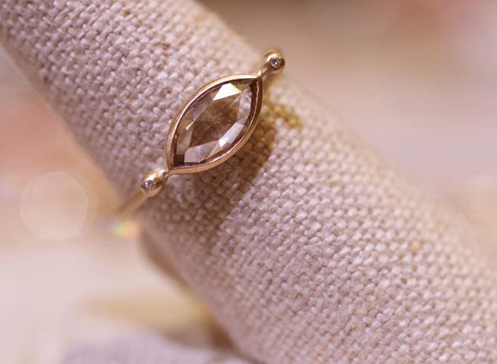 Rose-cut diamond ring designed by Rebecca Overmann • Image Erika Winters