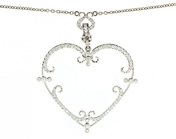 'Filagreen' heart pendant by Rhonda Faber Green