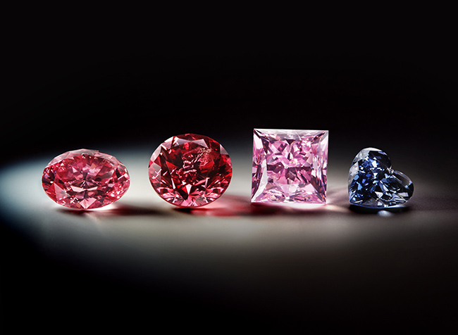 Fancy-color diamonds from the 2013 Argyle Pink Diamonds Tender Collection