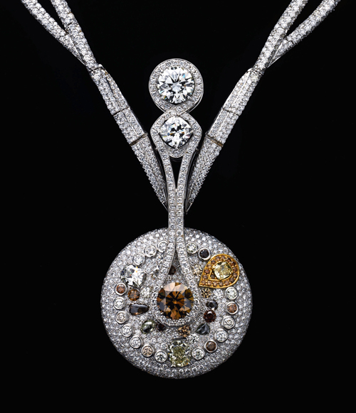 Rio Tinto Courageous Spirit Diamond Necklace Designed by Reena Ahluwalia
