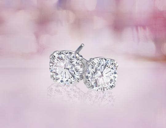 Ritani diamond studs for Cyber Monday