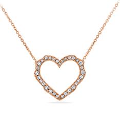 Petal diamond heart pendant at Ritani