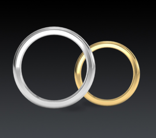 ... yellow or white gold wedding band with an engagement ring purchase