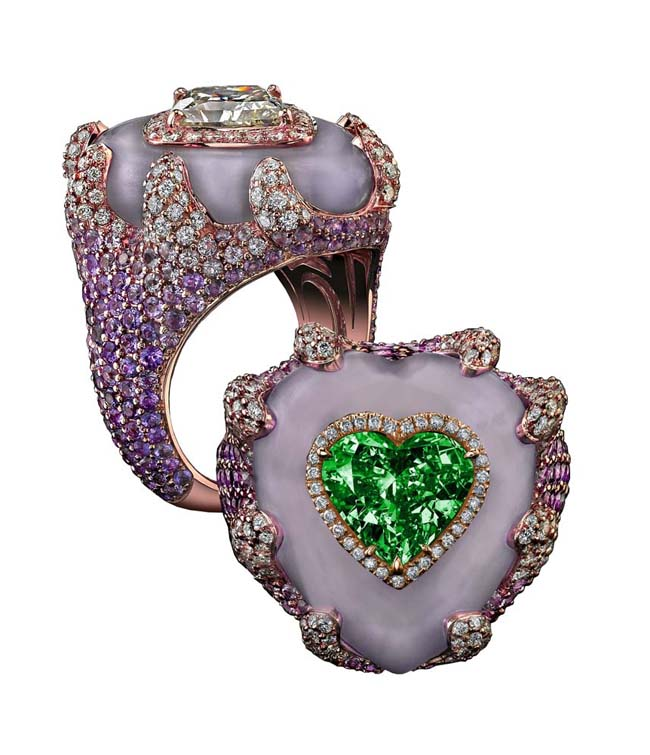 Robert Procop Exceptional Jewels Collection • 7.06-carat emerald heart ring