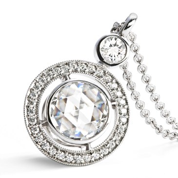 H & H Jewels Rose Cut Diamond Pendant