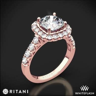 18k Rose Gold Ritani 1RZ2817 Halo Diamond Engagement Ring at Whiteflash