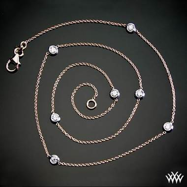 "0.50ctw 18k Rose Gold ""Whiteflash by the Yard"" Diamond Necklace at Whiteflash"