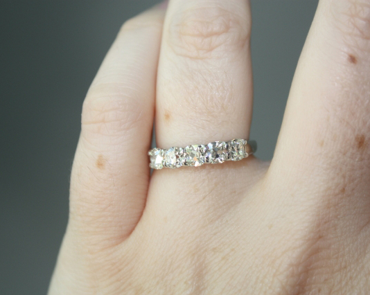 Vatché 5-stone ring with August Vintage Cushion Diamonds