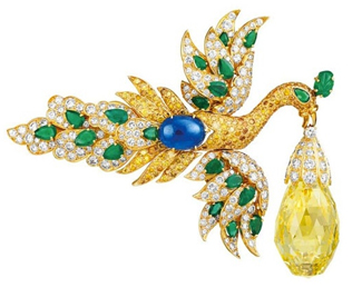 Walska Briolette diamond brooch by Van Cleef & Arpels