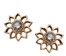 Sethi Couture Flower Diamond Studs