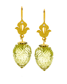 Minaret Carved Lale earrings by Shamila