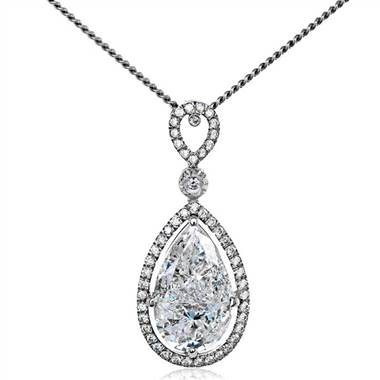 "Simon G PP148 Simon G ""Mosaic Collection"" Pear Shaped Pave Diamond Pendant at Solomon Brothers"