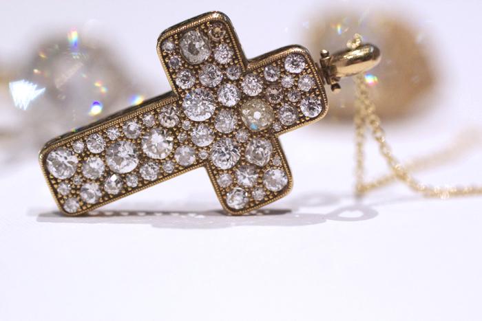 Single Stone Cobblestone Cross Necklace • Image Erika Winters
