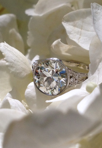 Vintage Inspired Engagement Ring by Single Stone