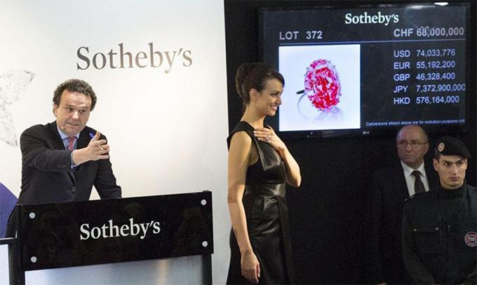 The Pink Star • 59.6-carat diamond • Sotheby's Geneva