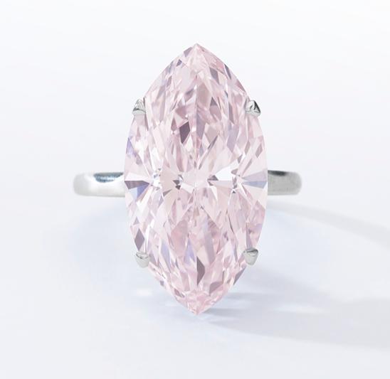 12.07-carat fancy pink diamond • Sotheby's