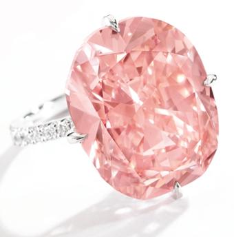 15.23-carat orangy pink diamond, Sotheby's