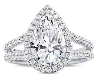 Split Shank Halo Setting For Pear Shape Diamond at Adiamor