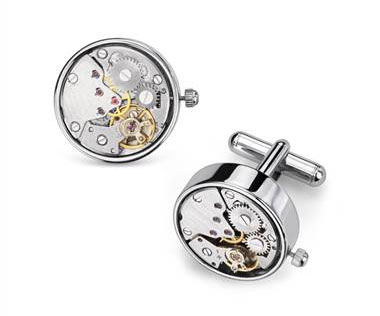 Steampunk Watch Movement Cuff Links at Blue Nile