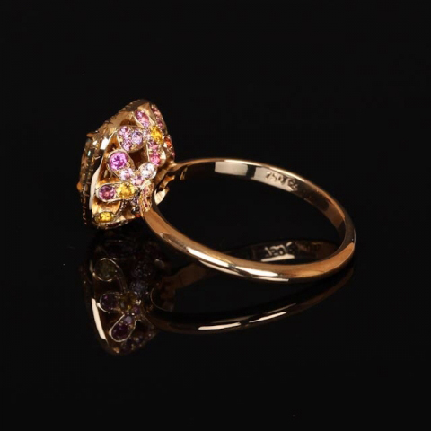 Yellow diamond ring with sapphire gallery shared by Scarlett1