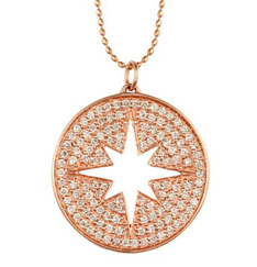 Sydney Evan diamond Starburst medallion necklace