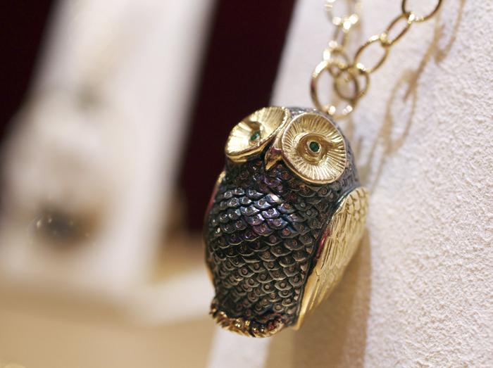 Syna Jewels Wise Owl pendant • Image Erika Winters