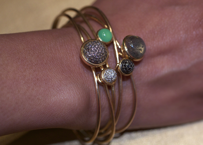 Syna Jewels Baubles Collection stacking bracelets • Image Erika Winters