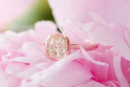 DorotheaBrooke's 10th Anniversary:  Custom August Vintage Cushion Ring (Top Angle View) - image by DorotheaBrooke