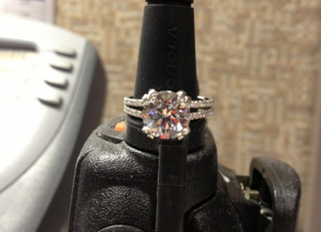 Malbec54's Pave Split Shank Engagement Ring (Top View) - image by Malbec54