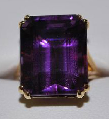 ManhattanLawyer's 15.38 Carat Amethyst Right Hand Ring (Top View) - image by ManhattanLawyer