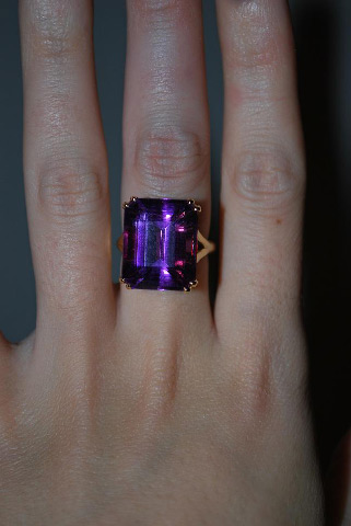 ManhattanLawyer's 15.38 Carat Amethyst Right Hand Ring (Hand View) - image by ManhattanLawyer