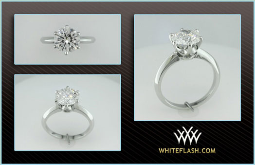 MaryAlaina's Tiffany Reproduction Reset Engagement Ring (New Setting) - image by Whiteflash