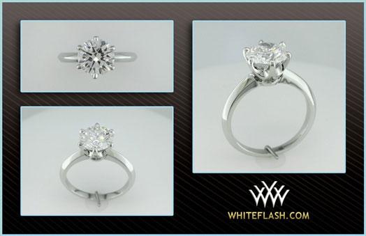 MaryAlaina's Tiffany Reproduction Reset Engagement Ring (New Setting) - image by Whiteflash