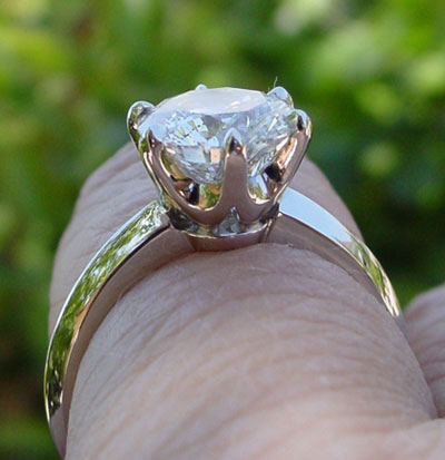 MaryAlaina's Tiffany Reproduction Reset Engagement Ring (Side View) - image by MaryAlaina