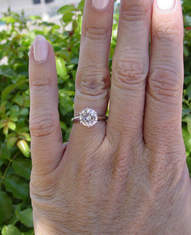 MaryAlaina's Tiffany Reproduction Reset Engagement Ring (Hand View) - image by MaryAlaina