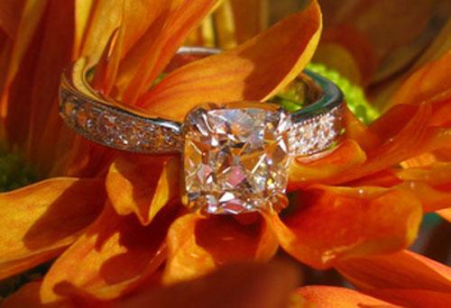 ecf8503's 10th Anniversary:  Old Mine Cut Diamond Ring (Chrysanthemum View) - image by ecf8503