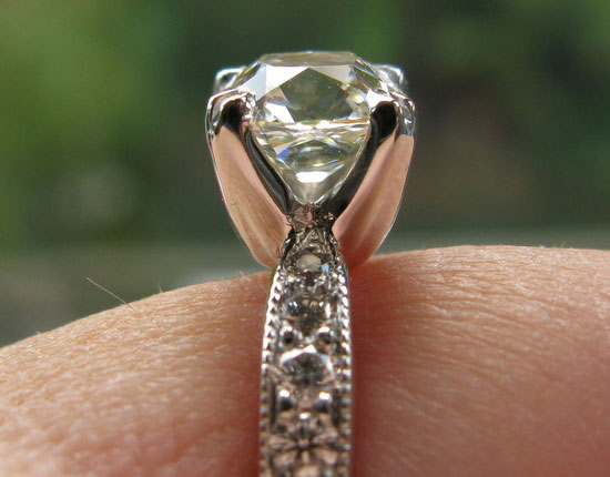 ecf8503's 10th Anniversary:  Old Mine Cut Diamond Ring (Side View) - image by ecf8503
